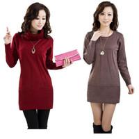 2013  YUAN XIANG women's medium-long cashmere sweater women sweater dress