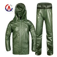 High-elastic split raincoat pvc coating rain pants set high frequency breathable hole