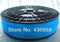 New 3D Printer Filament PLA 1.75mm Glow in dark(Blue) for Makerbot/Reprap/Mendel/UP Machine 1kg(2.2lb) Free Shpping
