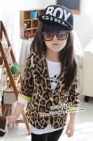 Wholesale 5pcs/lot baby girls cute Fashion Leopard cool blazers kids spring autumn coat children fashion jackets