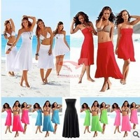 Free shipping 2013 new fashion beach dress fashion bikini outside shirt tie skirt beach one-piece dress