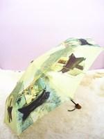 Monet oil painting three fold umbrella log handle umbrella boat