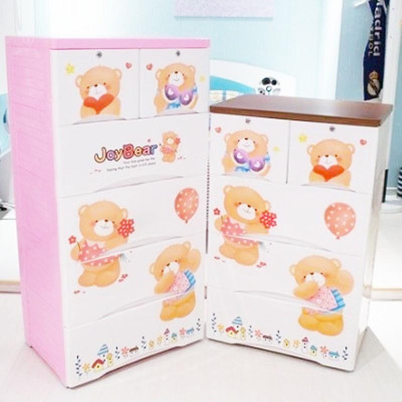 Extra large thickening baby plastic drawer storage wardrobe toy storage cabinet five drawer cabinet(China (Mainland))