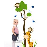 kids growth chart cartoon height measure child wall stickers on kids room measure height & growth  HK03 Free shipment