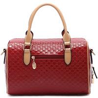 2013 autumn women's handbag red japanned leather women's bride handbag cross-body bags