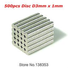 500pcs Bulk Small Round NdFeB Neodymium Disc Magnets Dia 3mm x 1mm N35 Super Powerful Strong Rare Earth NdFeB Magnet(China (Mainland))