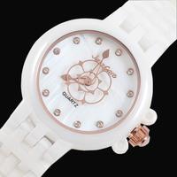 Women's Fashion Watch White Ceramic Watch TheTrend Of The Ceramic Ladies Watch BirthdayGift