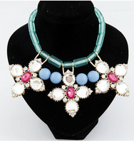 Star fashion personality flower luxurious gem elegant design short necklace bohemia