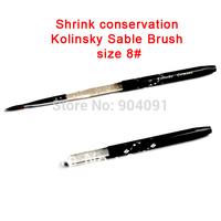 Retail Size 8# black 100% Kolinsky Sable Brush.Professional kolinsky sable acrylic nail brush for acrylic brush + Free Shipping