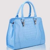 Women's bags fashion vintage 2013 fashion color block japanned leather all-match one shoulder handbag women's handbag bags