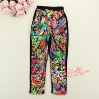 2013 autumn children's clothing fashion female child harem pants long trousers child legging