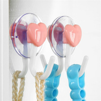 10pcs/lot! 2kg Clothing Storage Rack/Small daily sundries Sucker Hooks Heart shape Link  Free shipping with retail package