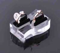 Fress shipping 10pcs/lot transparent Acrylic ring display stander holder rock  jewelry display ring box  display for ring