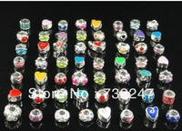 Wholesale Alloy enamel beads Christmas gift fashion jewelry Rhinestone Round Spacers Bead 300pcs/lot