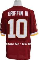 Men Cheap Washington QB #10 Robert Griffin III Red/White/Black/Split Elite American Football Sports Jersey.Embroidery Name Logo