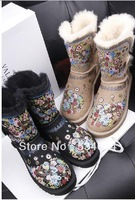 Australia new winter 2013 whole sheep fur one low to help restore ancient ways female boots snow boots