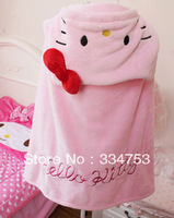 Hello kitty cute house people shawl cape cloak with hat lazy blanket air conditioning blanket