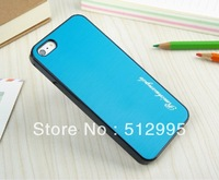 Double Color Wire Drawing Dumb Chris Case For Apple iphone 5 5G 5S, 10Pcs/Lot Free Shipping