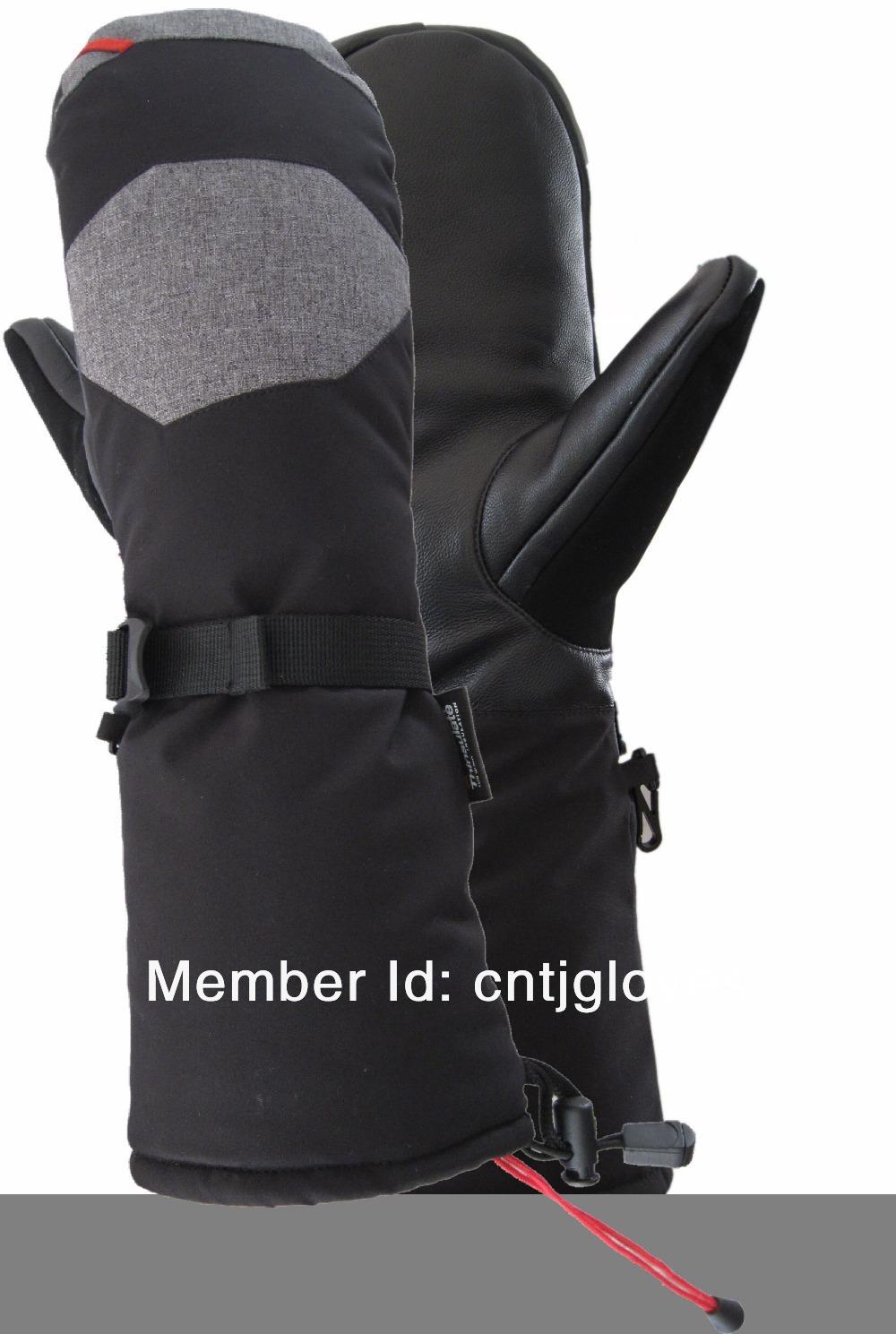 Long Leather Gloves For Men Men's Winter Long Cuff Gloves