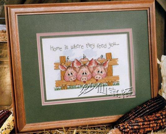 Livraison gratuite bricolage inachevée point de croix kit animaux porcs clôture ZA-D050(China (Mainland))