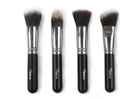Sixplus 4 Pcs Professional makeup Brush Set Coarse Handle Classical Black Brushes Cosmetic Kits Wholesale Free Shipping