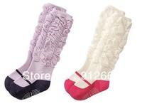 20pairs/lot girl lace leg warmers knee high ruffle socks children ballet boots socks leg warmer Free Shipping