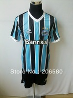 Free shipping,13/14 season top quality Gremio FBPA home blue/black soccer jersey
