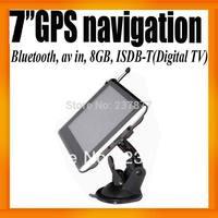 "Argentina South America Digital TV 7""GPS Navigation+Bluetooth+AV IN +8GB+ISDB-T+FMT+Ebook Reader+Free Map Voice Guider"