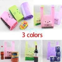 100x Smiling Bear Print Vest Shopping Bag Plastic Supermarket Carrier Gift Pouch[01040225]