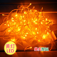 Christmas decoration lantern gold lamp christmas tree decoration lamp yellow led lighting 10 meters