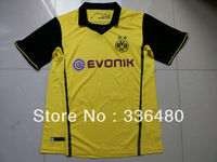 hot sell 13/14 Borussia Dortmund 3rd away uefa version yellow best quality soccer jersey, Dortmund football jersey