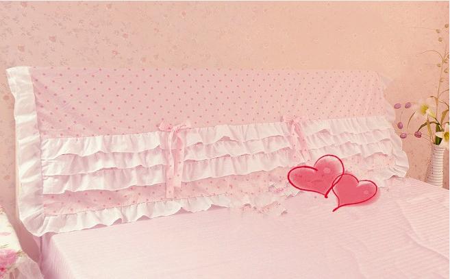 Household rustic princess bedding jade powder dot bed hinge(China (Mainland))
