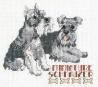 Free shipping DIY unfinished Cross Stitch kit Animal dog  mini schnauzer miniature schnauzer ZA-G472