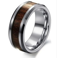 Min order$15(mix order)OLL JEWELRY 100% Tungsten Steel Ring Brown Color Carbon Fiber Ring EuropeStyle WJ233 Free Shipping