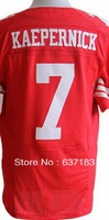 2013 Mens New Cheap San Francisco QB #7 Colin Kaepernick Red/White/Split American Rugby Football Sport Jersey,Embroidery Logo