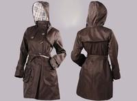 Women's Brand Trench Windbreak,Long Outercoat weather-all coat,Good Quality Long Outwear