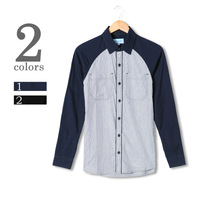 New 2013 brand Vintage men's clothing fight sleeve 100% long-sleeve slim shirt cotton shirt men  for man