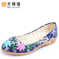 hot new sales cotton-made shoes National style trend chinese traditional beijing cloth shoes sole plate embroidered canvas shoes