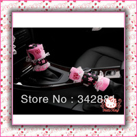 2pcs/ lot 2013 New Arrival Hot sale hello and1pcs  Ketty  Handbrake grips and 1pcs Gear shift knob cover