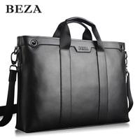 Cowhide man bag briefcase laptop bag shoulder bag male 15.6 business casual handbag bag