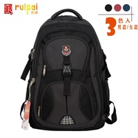 free shipping hot sale black blue red Casual fashion backpack travel backpack commercial computer wear-resistant book