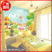 B mural child real wall painting wallpaper wallpaper pvc girl princess