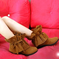 Fashion all-match tassel  nubuck leather snow boots for women