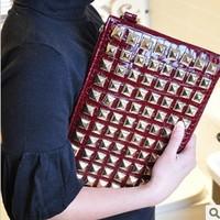 Fashion women bags Rivet 2013 clutch casual PU women's handbag bag female shoulder bag clutch bag cross-body the trend