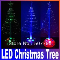 Christmas Decoration Supplies,mini LED Christmas Tree,red,blue,green,colorful,(1 pieces/lot) Free Shipping