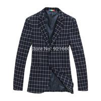 New men vestdos  suit male classic big plaid fashion male slim suit men clothing casual suit  cardigans  dress slim