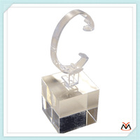 C shaped customized high polished acrylic watch display