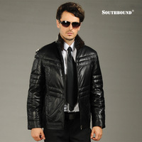 Southbound genuine leather clothing male stand collar mink sheepskin down coat men's clothing design short outerwear