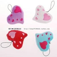 Plush mobile phone small heart pendant love heart design mobile phone chain wedding supplies