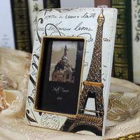 Romantic eiffel photo frame birthday gift fashion home fashion resin photo frame